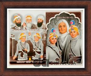 guru gobind singh with family