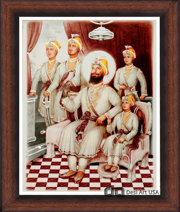 guru gobind singh with sahibzade